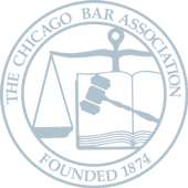 The Chicago Bar Association logo.